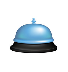 Service bell in black and blue design vector