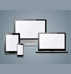 Monitor notebook smartphone tablet icon vector