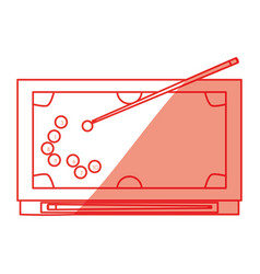 isolated pool table vector image