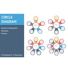circle diagrams vector image
