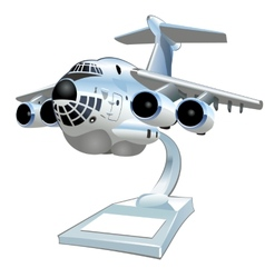 Cartoon cargo airplane vector