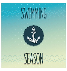 Beginning swimming season vector