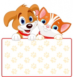 cat and dog sign vector image