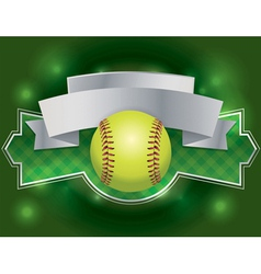 Softball banner vector