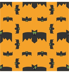 Seamless pattern of bats decorative background vector