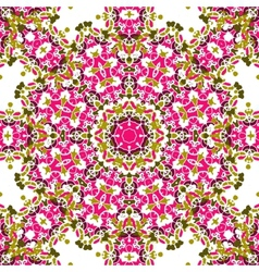 Pink coloured mandala like design seamless vector