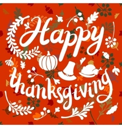 Happy thanksgiving day leaves banner vector