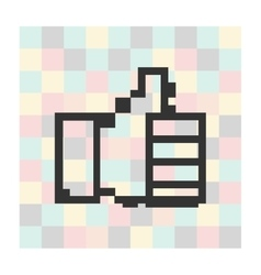 pixel icon thumbs up on a square vector image