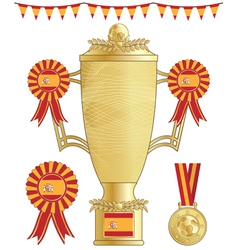 Spain football trophy vector