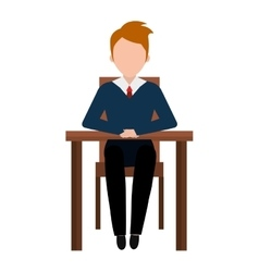 Front view business interview graphic design vector