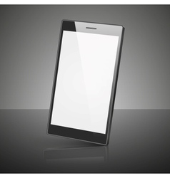 Black smartphone isolated on white background vector image vector image