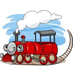 Cartoon locomotive or engine character vector