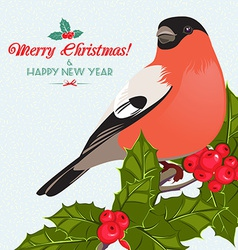 Christmas background and greeting card with vector