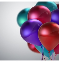 Colorful balloon bunch vector