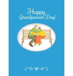 Grandparents Day design element vector image
