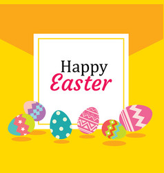 happy easter egg background and wallpapers vector image