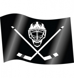 hockey flag vector image vector image