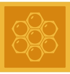 Icon image honeycomb 1 vector image vector image
