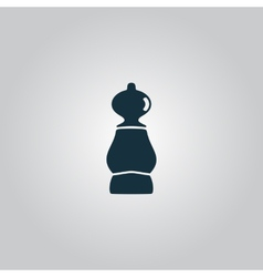 icon of chess pawn vector image