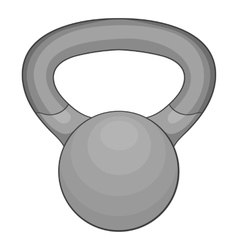 Mini weight icon gray monochrome style vector