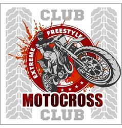Motocross sport emblem vector image