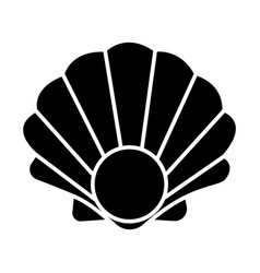 pearl shell icon black sign vector image vector image