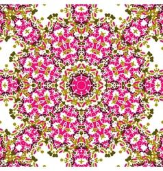 Pink coloured mandala like design seamless vector