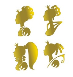 princesses vector image vector image