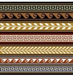 set of geometric borders vector image vector image