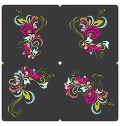 Set of vintage card vector