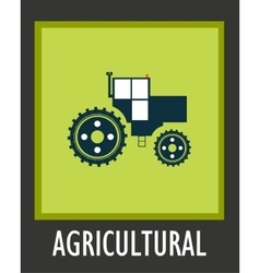 Simple icon agriculture tractor eps 10 vector