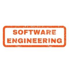 Software engineering rubber stamp vector
