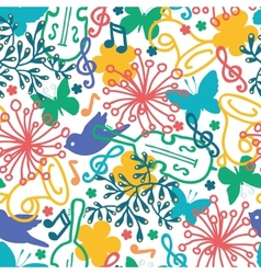 Spring music symphony seamless pattern background vector