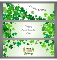 St Patricks Day banner set vector image vector image