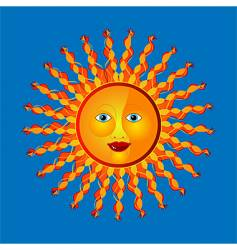 sunny vector image vector image