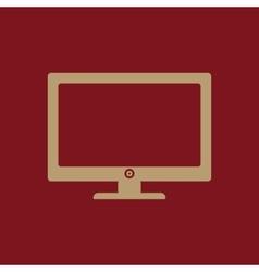 The screen icon monitor symbol vector