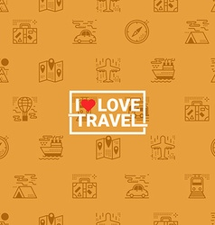 Travel concept seamless orange background vector