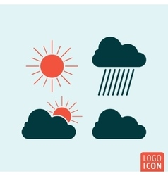 Weather icon isolated vector image vector image
