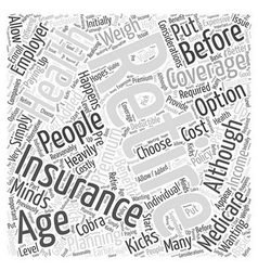 What Happens When I Retire Word Cloud Concept vector image