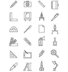Work design icon set vector image