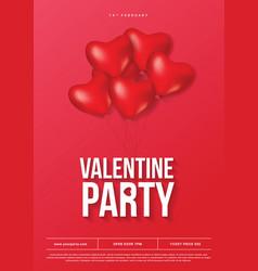 007 - poster valentine vector image