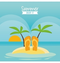 Sandals summer holiday vacation icon vector