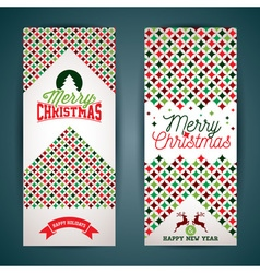 Merry christmas greeting card with color texture vector