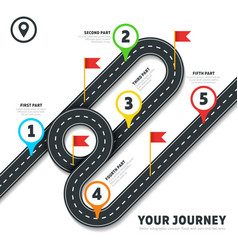 Journey road map business cartography vector
