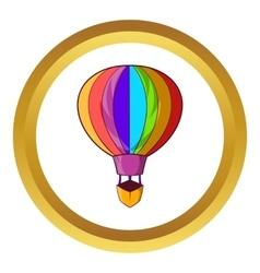 Striped multicolored aerostat balloon icon vector
