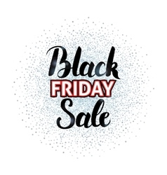 Black friday sale lettering over silver vector
