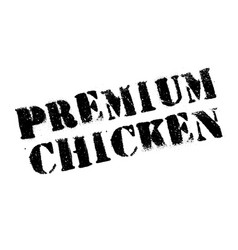 Premium chicken rubber stamp vector