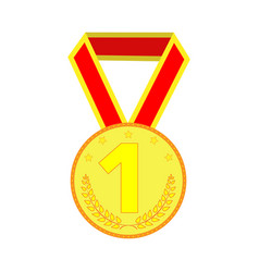 gold medal sign 2003 vector image