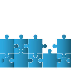 Blue puzzle solution image vector