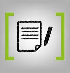paper and pencil sign black scribble icon vector image